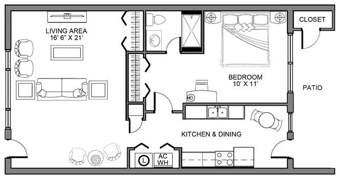 1BR Deluxe Garden Home
