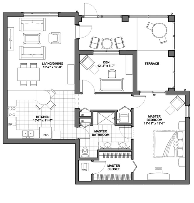 One Bedroom Villa with Den