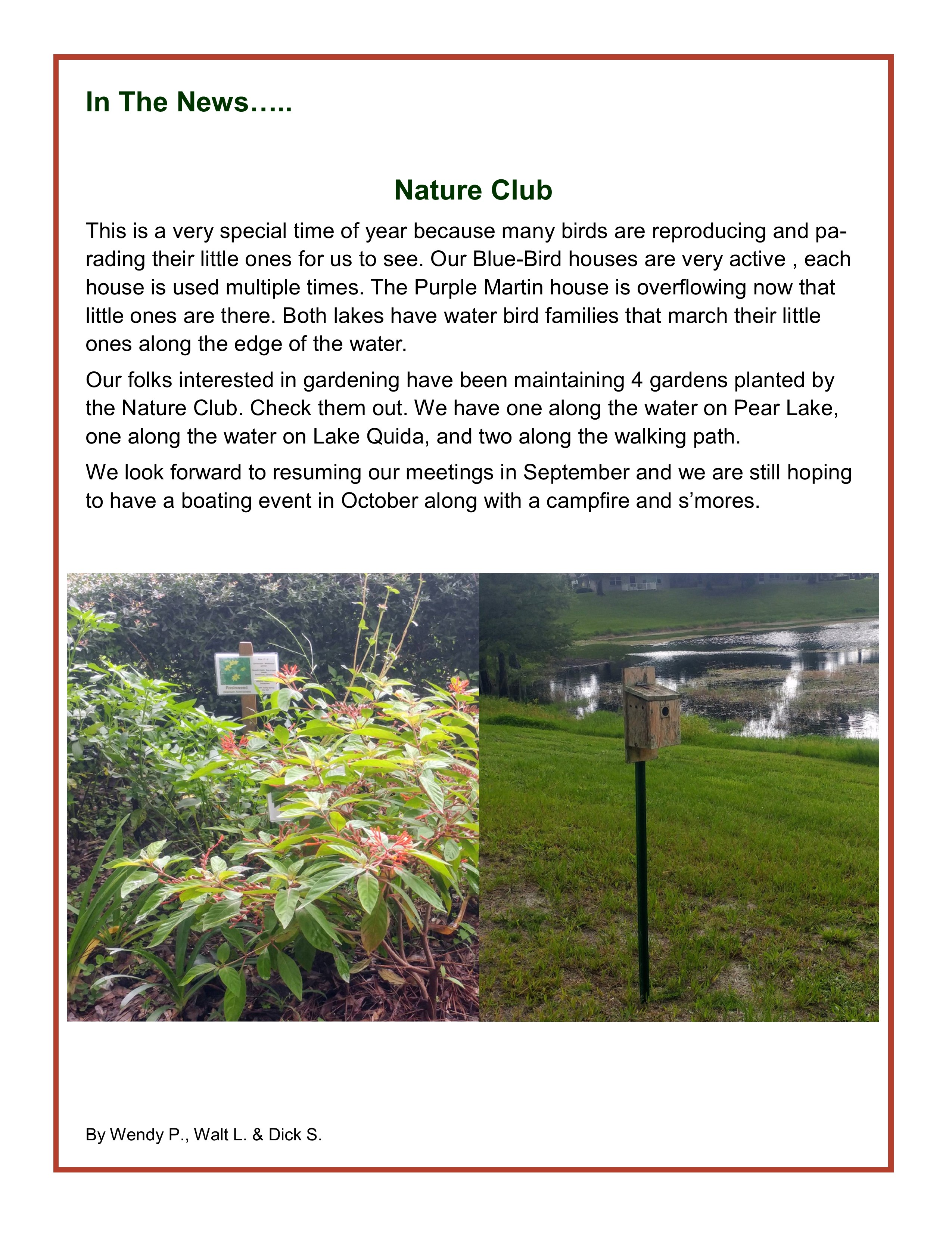 Lakeview Terrace Nature Club