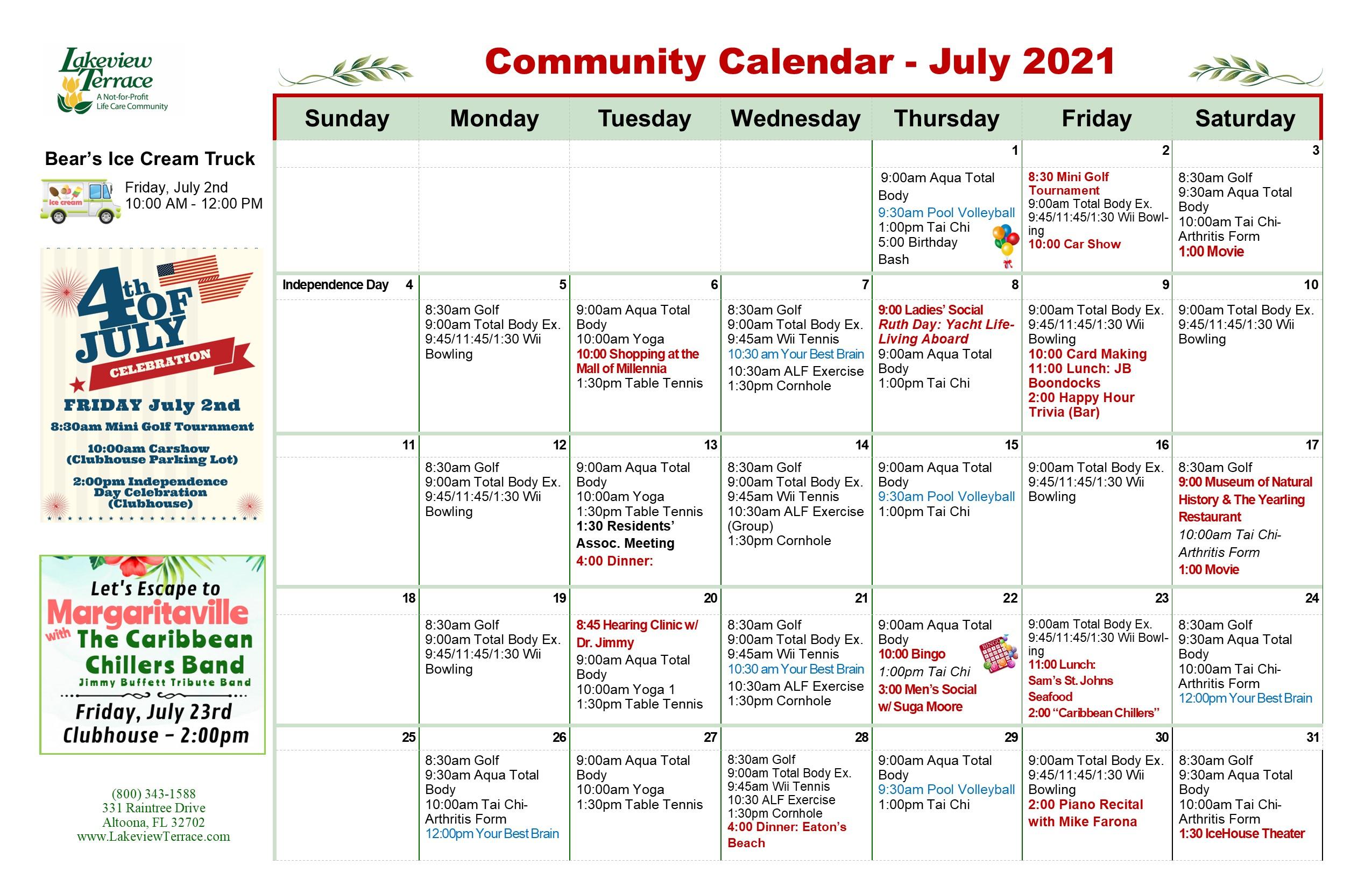 July Community Calendar Pg 1